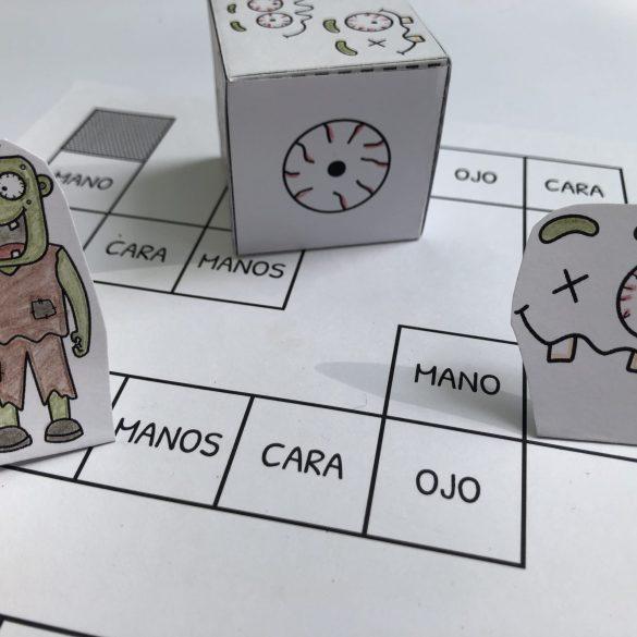 Spanish Zombie Preschool Pack