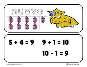 Example of how a ten frame can work to build early math skills