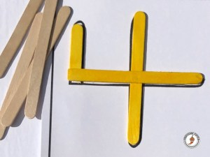 Spanish Craft Stick Numbers Mats Construction Example