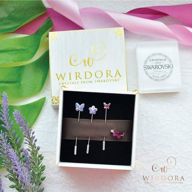 Adanya Swarovski & Wirdora Crystal untuk Tudung Atau Doorgift