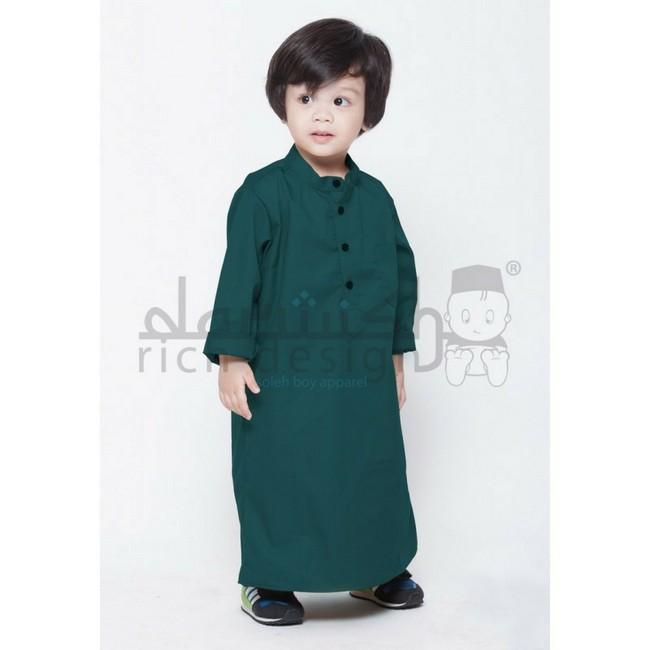 jubah kanak kanak dark green