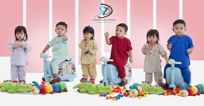 kurta dan baju melayu kanak kanak