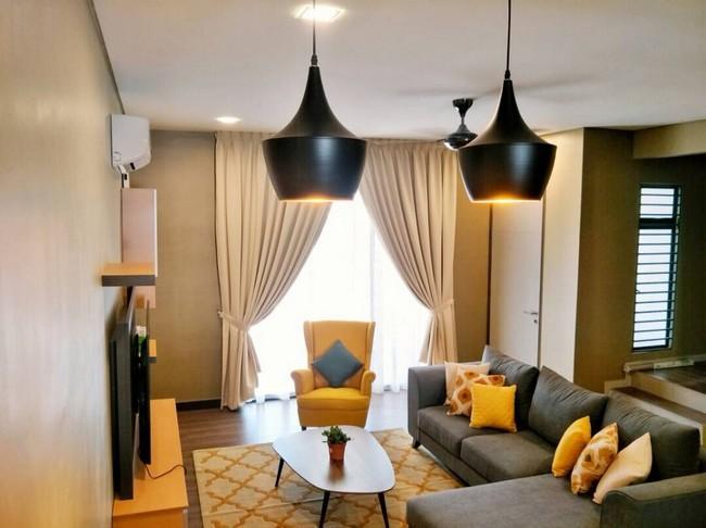 renovate ruang tamu murah