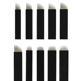 1 sada (10 kusů čepelí) - 7 u, 9 u, 12 u, 14 u, 18 u, 7 pin, 9 pin, 12 pin, 14 pin, 18 pin - pro ruční tetovací strojek permanentní MAKE-UP