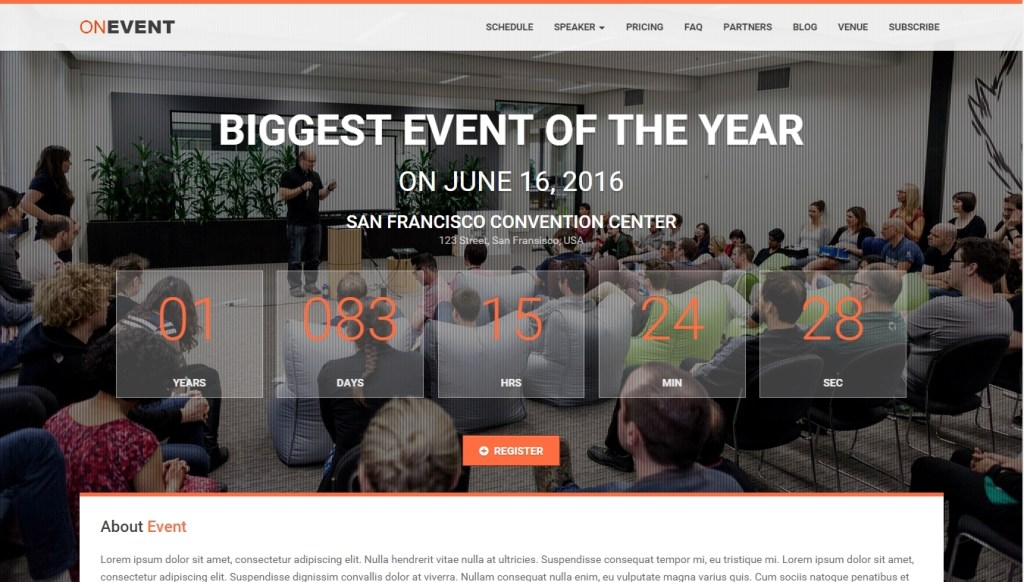 Conference and Event WordPress Themes -2015-mar-24