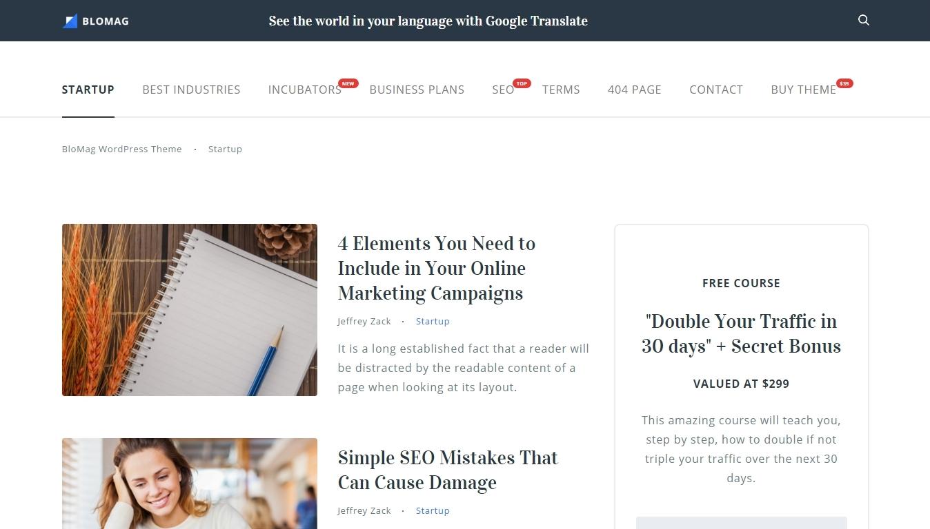 WordPress Themes Optimized for Google Adsense