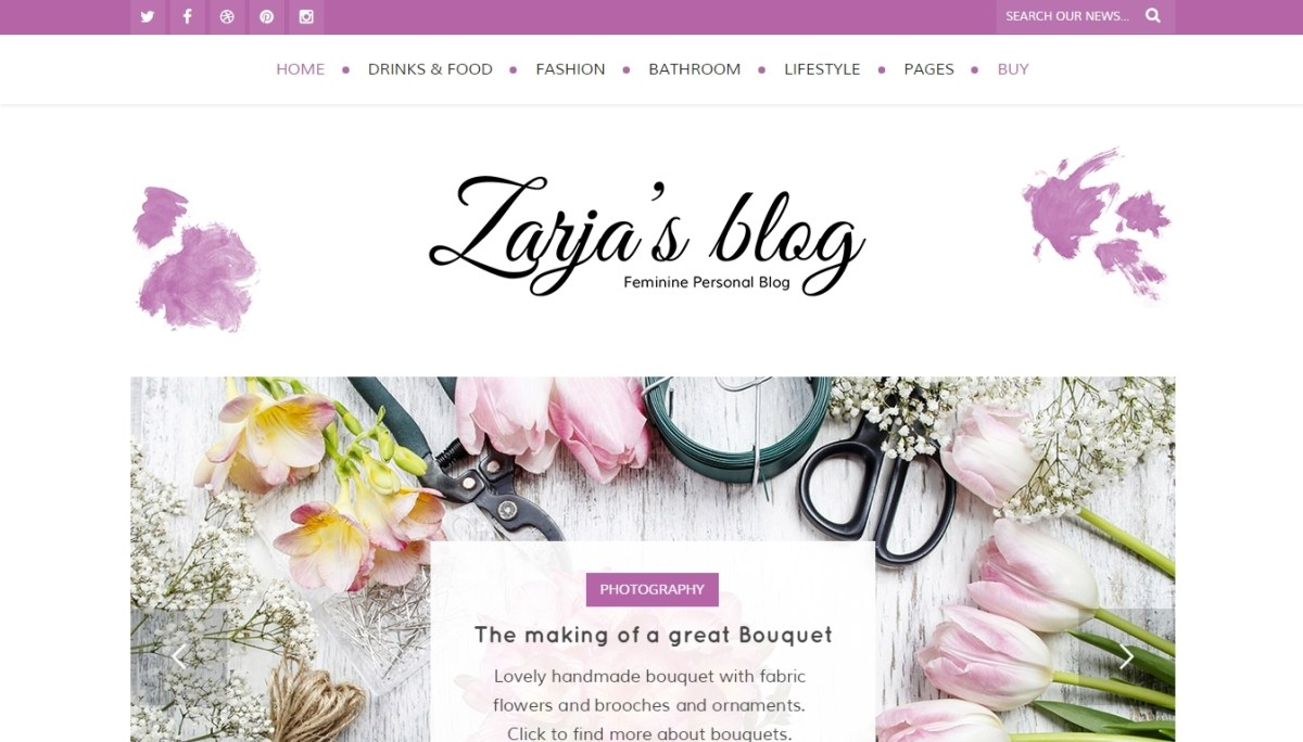 Top Beautiful Feminine Wordpress Themes 2015