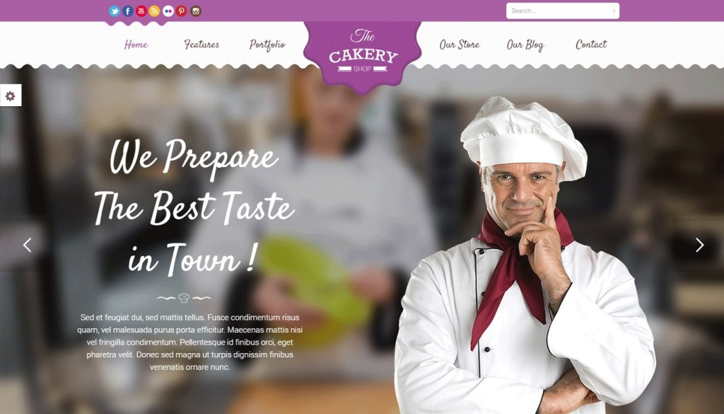 Food business WordPress themes for cafe shop, bakery, pub and bistro