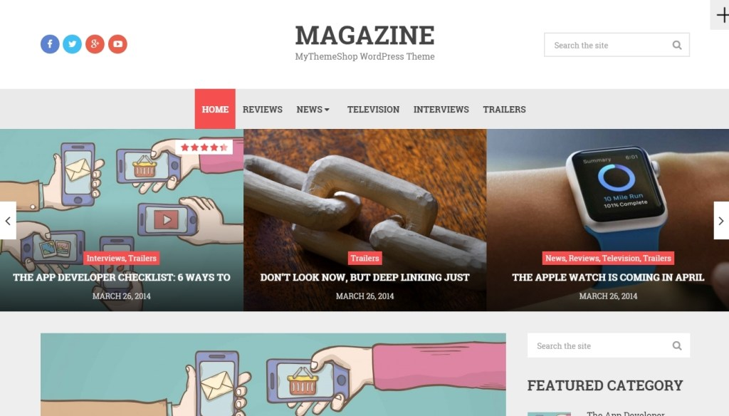 magazine wordpress themes created recently for 2015