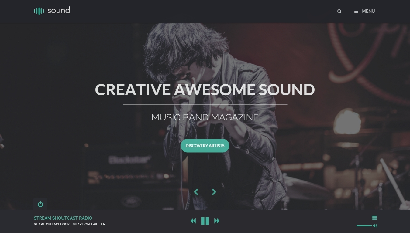 Best Modern Creative WordPress Themes for musicians and bands