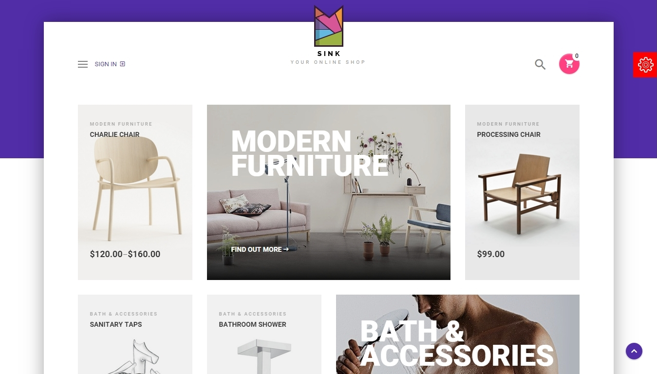 Minimal WordPress eCommerce theme