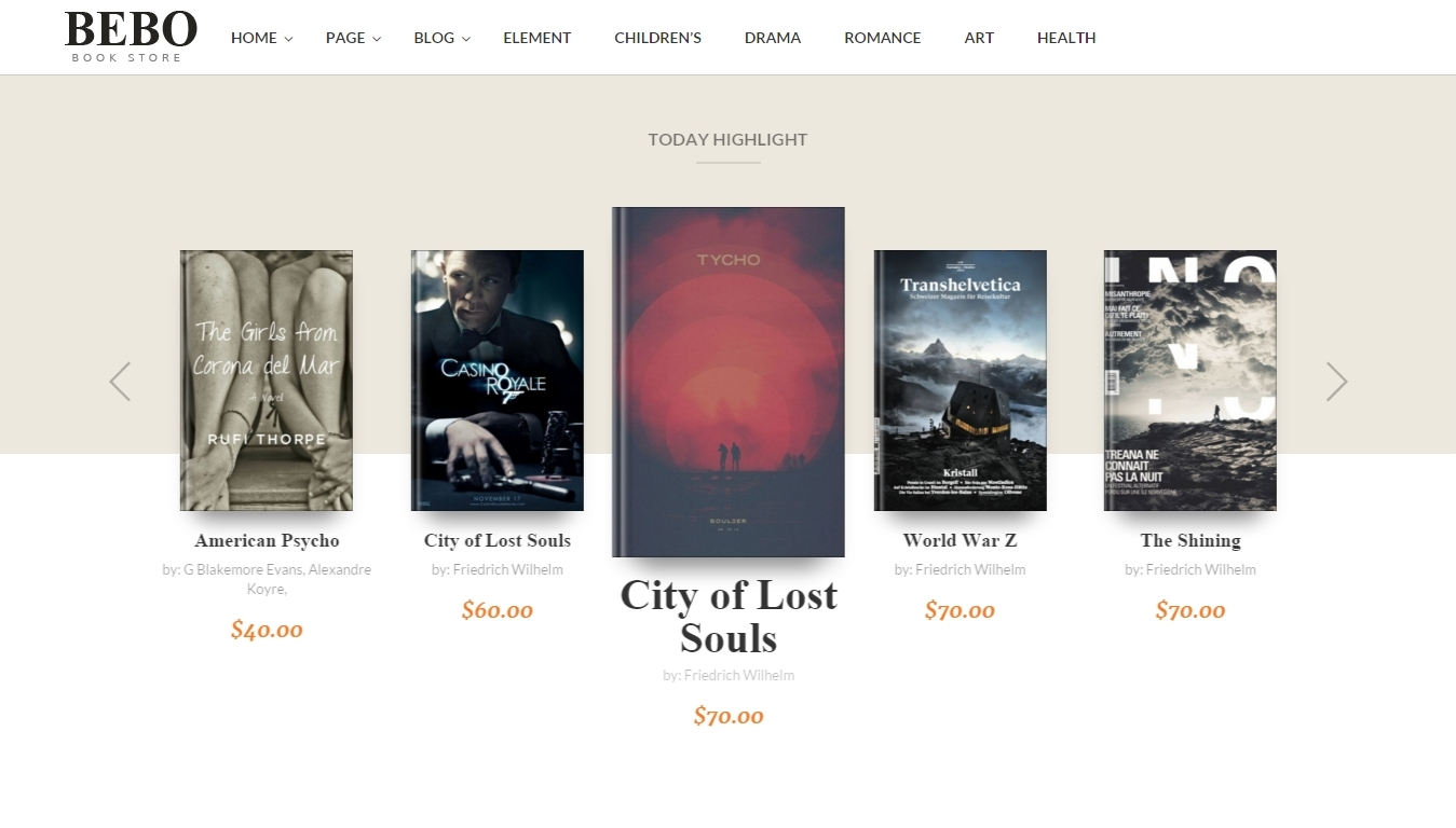 Responsive WordPress WooCommerce Themes for ebook store