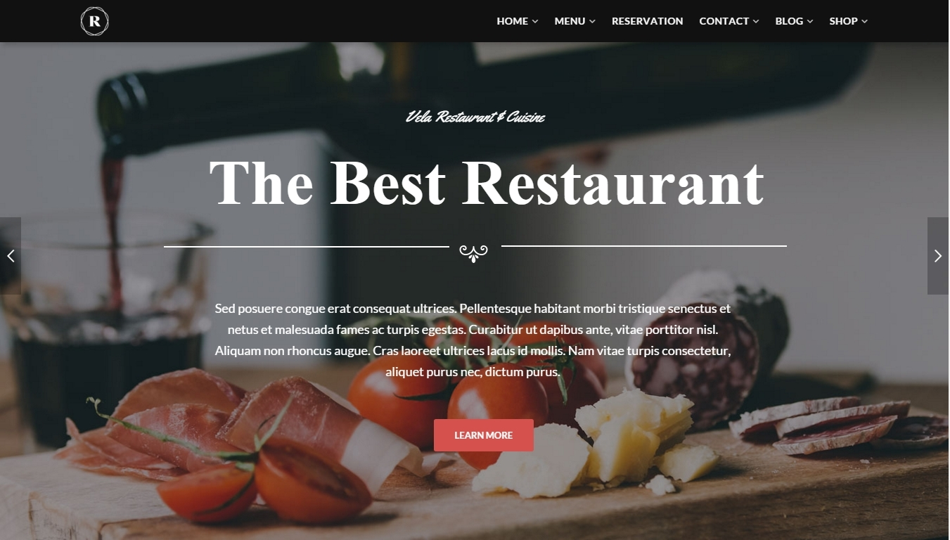 Restaurant — WordPress restaurant, cafe and bar theme