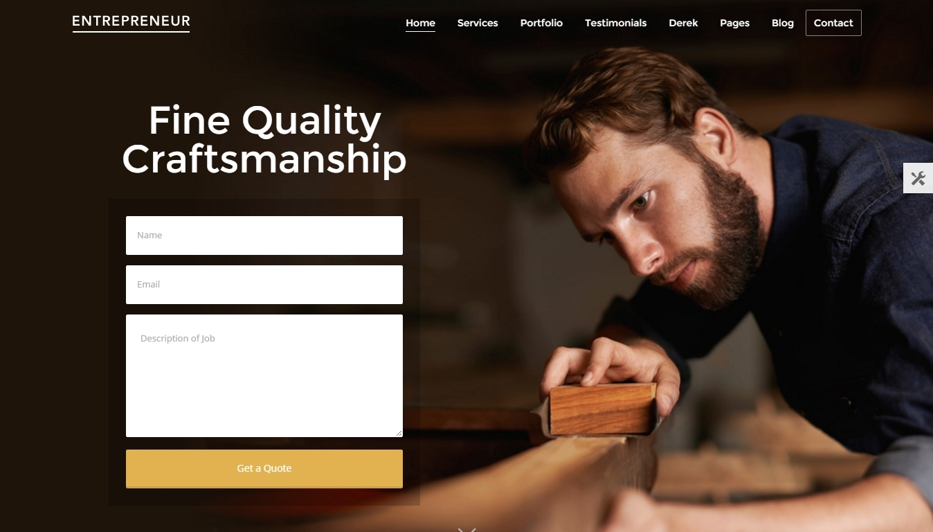 a creative WordPress theme for small business