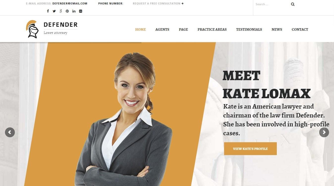 eDefender – WordPress theme for legal practice