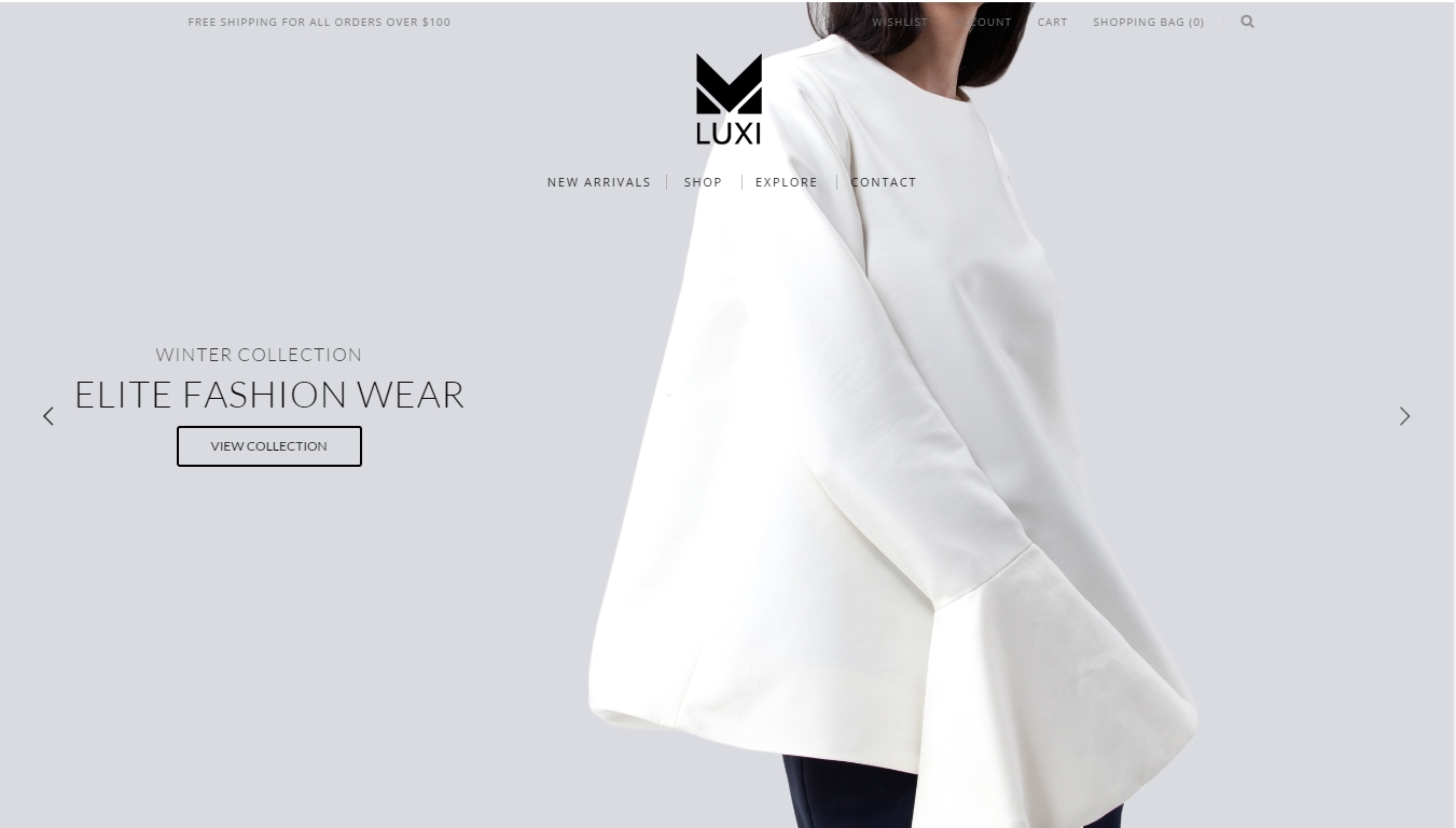 fashion WordPress eCommerce theme