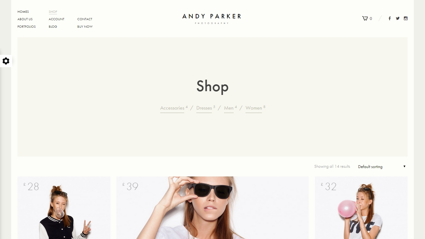 minimal trend in design of product web-pages