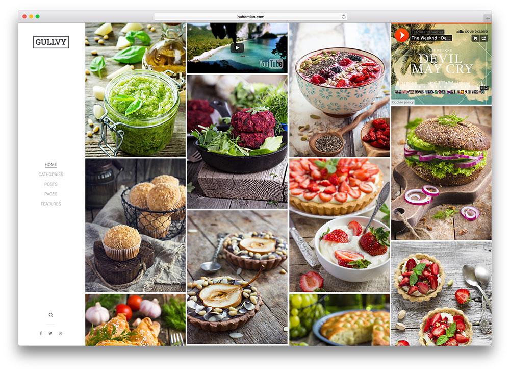 Food and Recipes WordPress Themes
