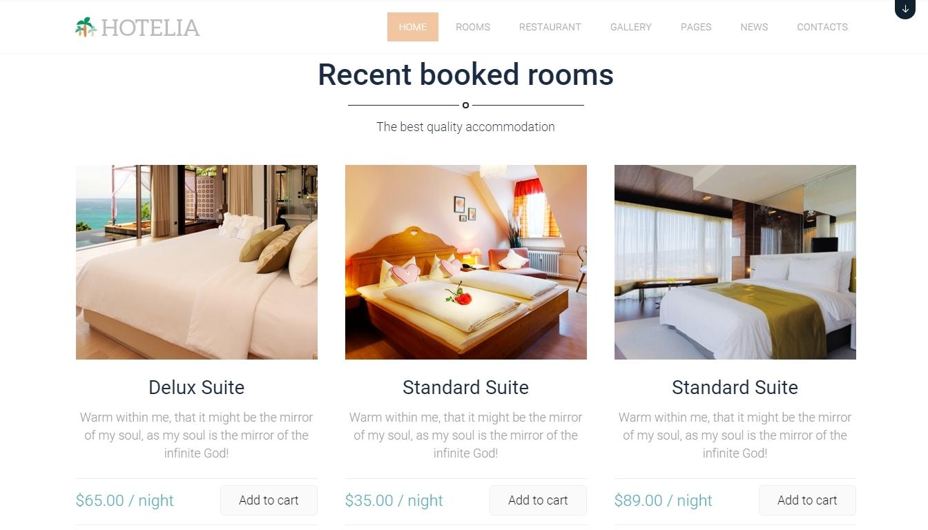 Hotelia- premium wordpress hotel themes