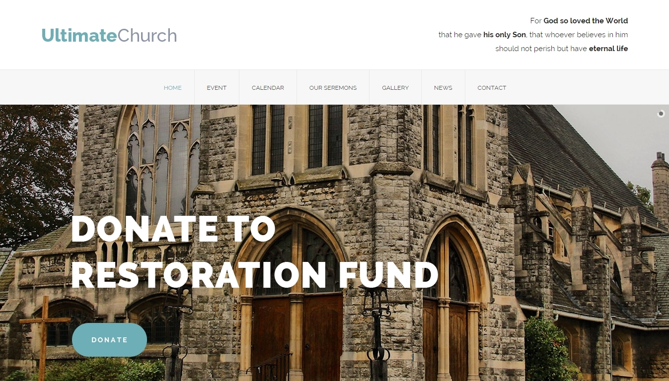 Ultimate Church — landing page for church