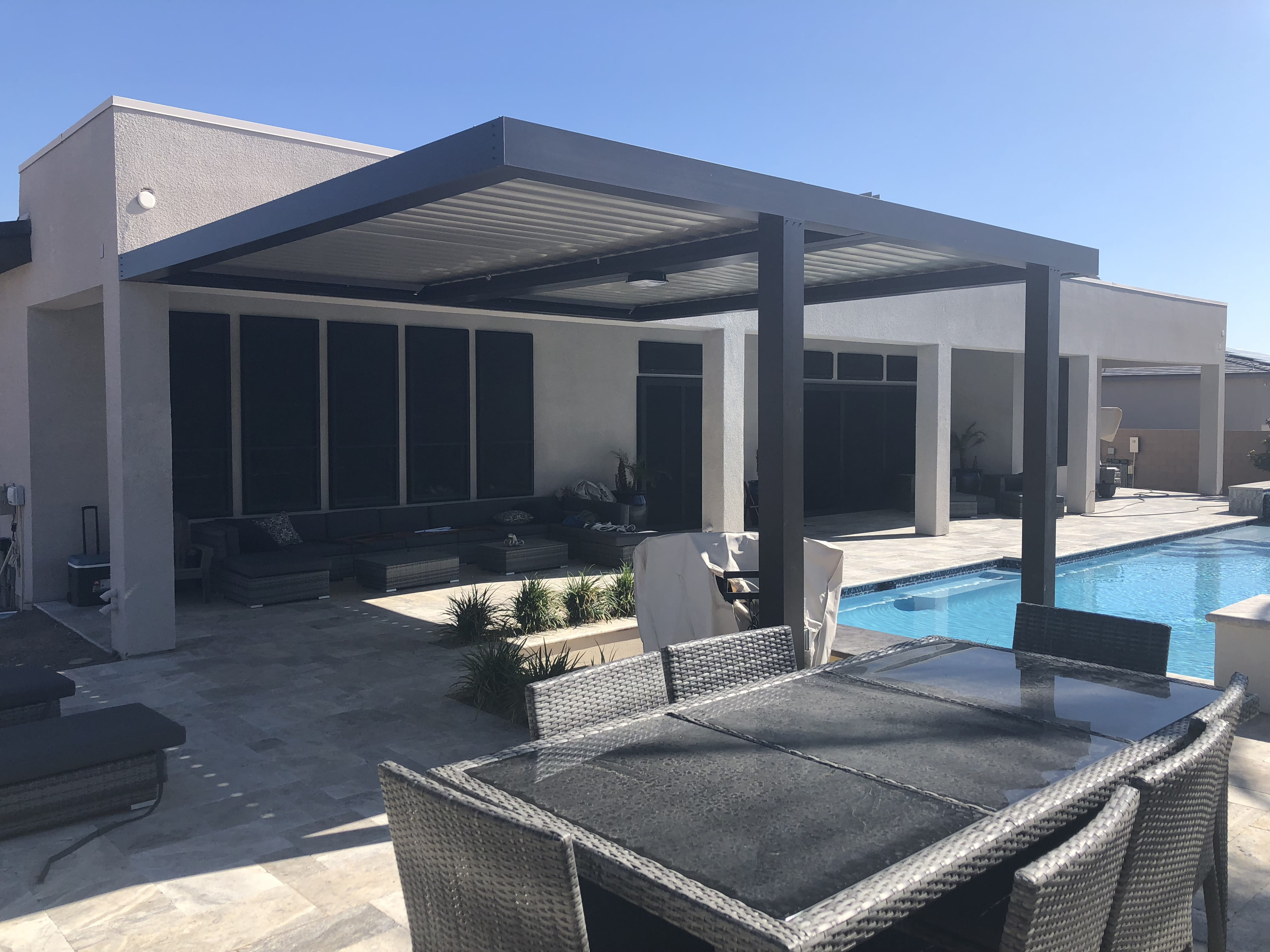 adjustable louvered patio covers