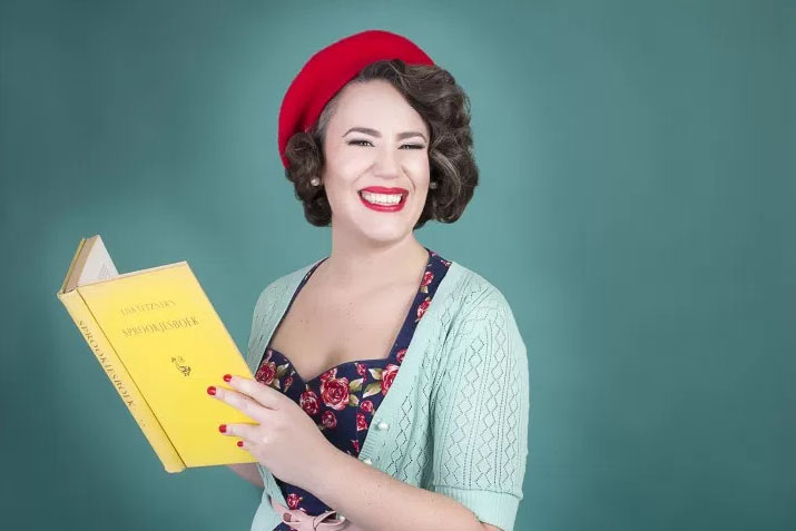 Lieve Tosca houdt boek vast