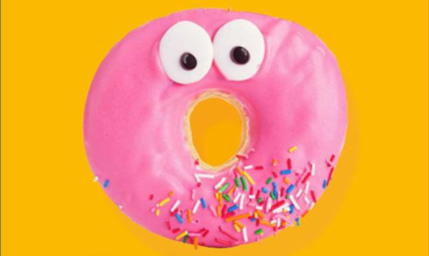 Donut met oogjes