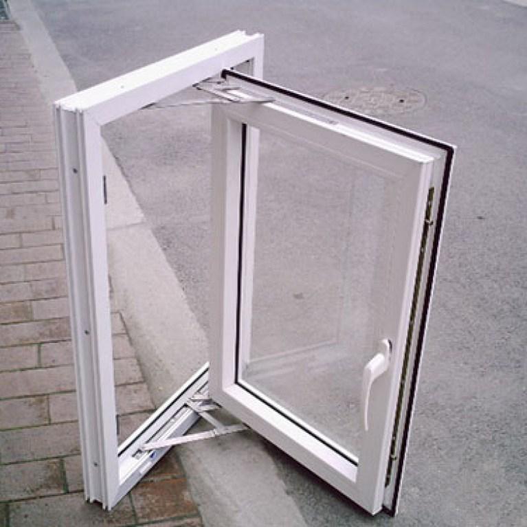 pvc  casement  single glass  window