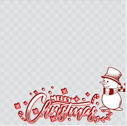 Toni Tails Christmas Frame