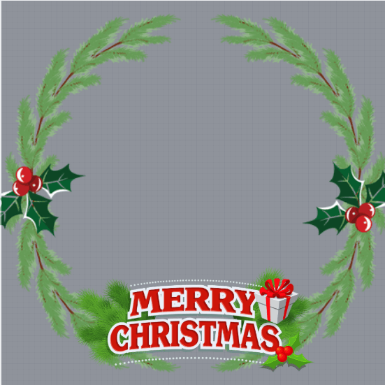 Christmas Wreath Profile Frame