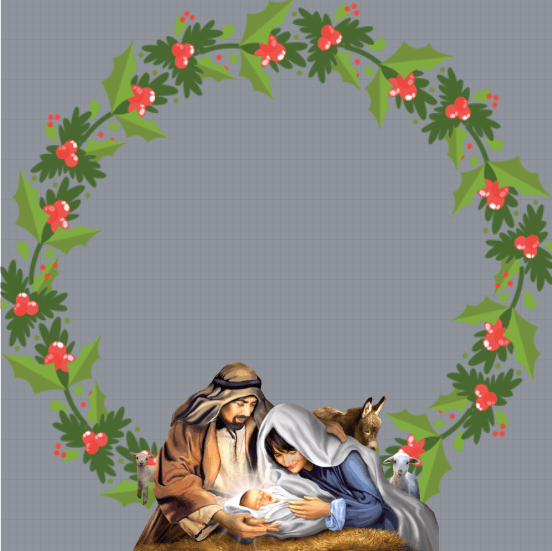 Jesus Birthday Profile Frame