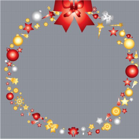Christmas Wreath Profile Frame