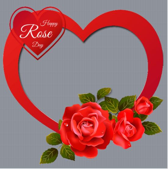 Rose Day Profile Frame