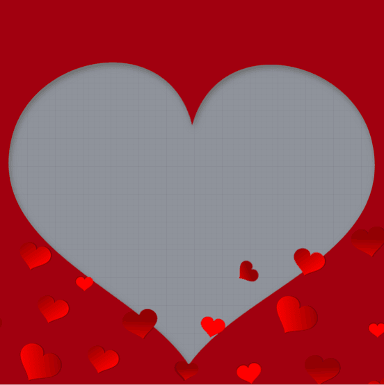 Valentines Day Heart Frame