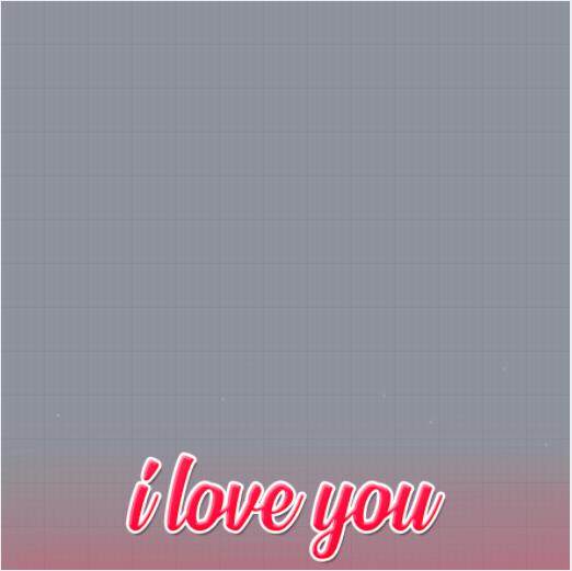 I Love You Profile Frame
