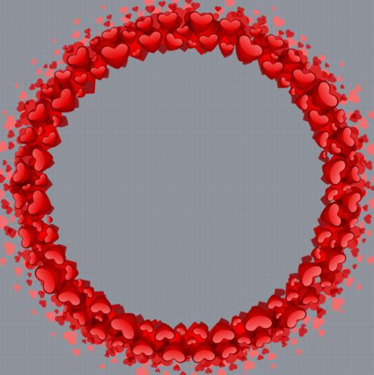 Valentines Red Heart Frame