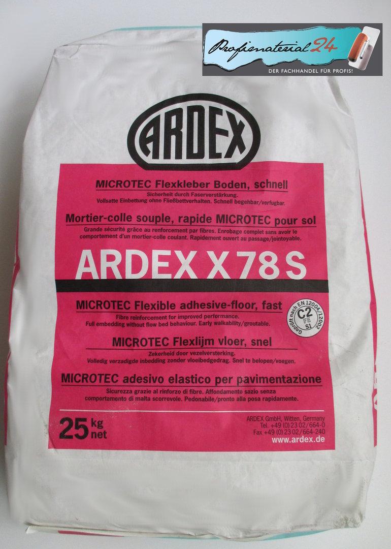 ardex x78s microtec flex floor tile adhesive quick 25kg