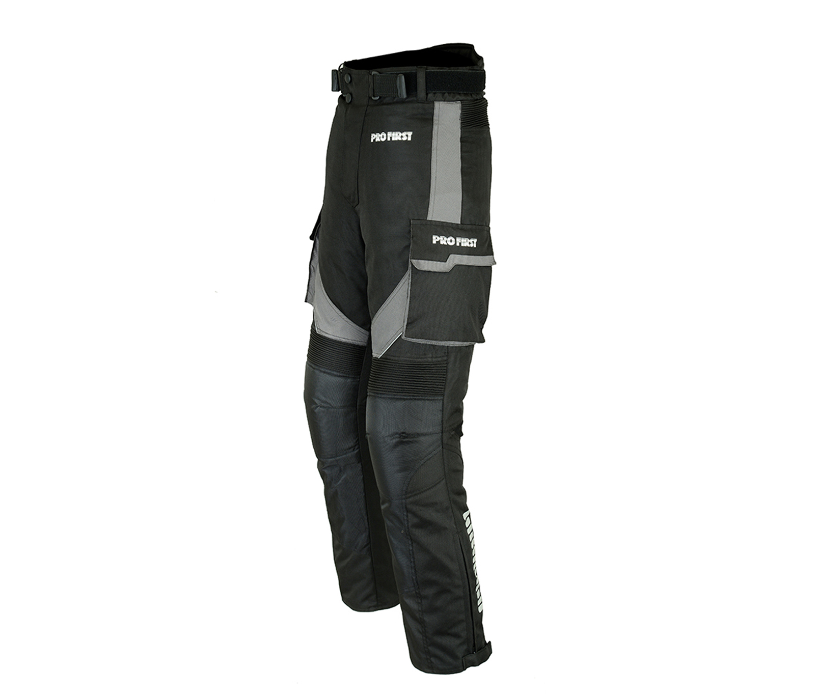Grey - XS to 4XL Big Pocket Design Removable Lining CE Approved Armoured Motorbike Motorcycle Trouser Pant Waterproof PROFIRST TR-001 Long Length Inside Leg 32 inch