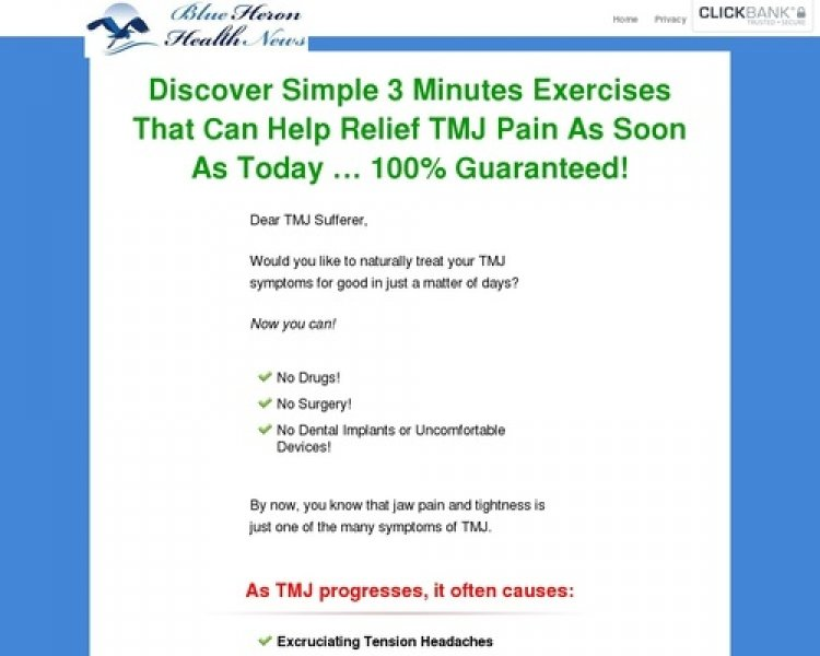 Cure For Tmj, Bruxing And Tooth Grinding – Blue Heron Health News