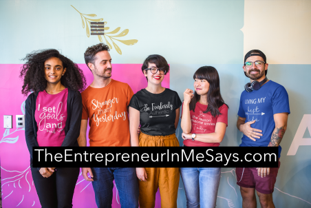 interracial-group-of-five-coworkers-wearing-t-shirts-mockup-at-a-startup-a20413
