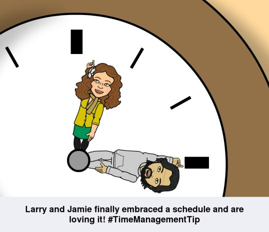 Larry Rivera and Jamie Pelaez time management tip