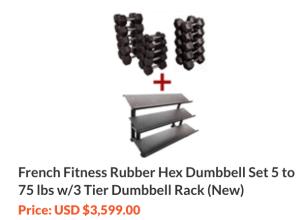 Rubber Hex Dumbbell Set Alternatives