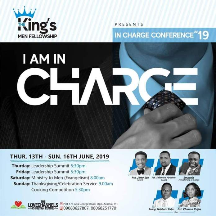 The King's Men Fellowship Set To Host IN-CHARGE Conference At The Love Channels Christian Centre, PH