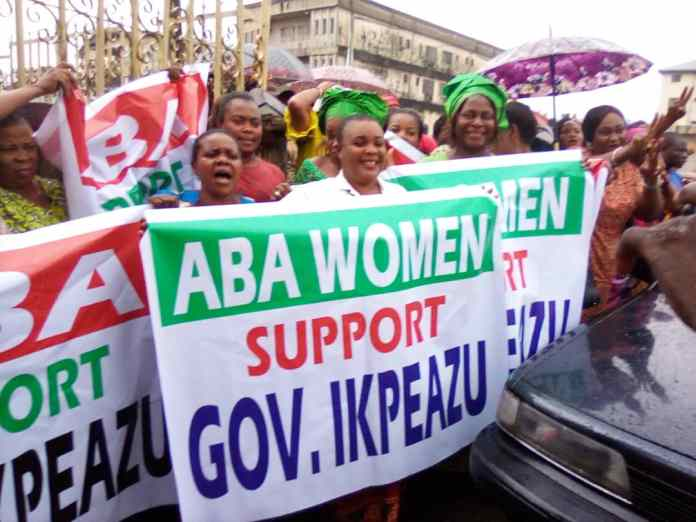 Aba women protesters