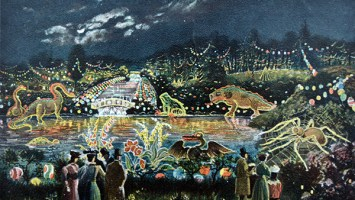 Brocks Illuminations 1906 postcard