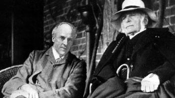 Karl Pearson and Francis Galton, 1910