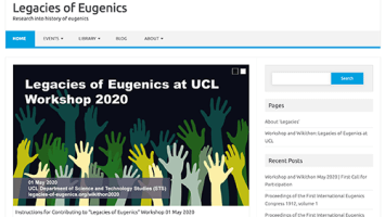 Legacies of Eugenics project website December 2019