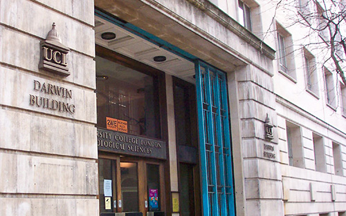 UCL Darwin Building, entrance on Gower Street | ProfJoeCain