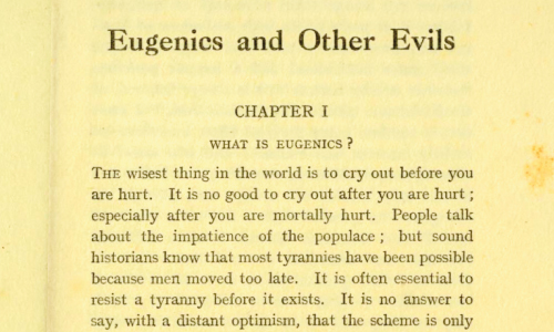 G. K. Chesterton. 1922. What is Eugenics? essay
