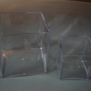 Cubo em acrilico aberto (tipo vaso) 15x15cm
